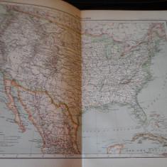 Harta color 37/46 cm - SUA 57 - Atlas de Geographie Moderne, Paris, 1901