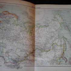 Harta color 37/46 cm - Empire Russe 37 - Atlas de Geographie Moderne, Paris,1901