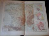 Harta color 37/46 cm - France 10 - Atlas de Geographie Moderne, Paris, 1901