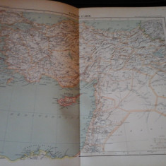 Harta color 37/46 cm - Turcia Asia 39 - Atlas de Geographie Moderne, Paris,1901