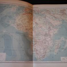 Harta color 37/46 cm - Africa fizica 46 - Atlas de Geographie Moderne,Paris,1901