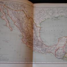 Harta color 37/46 cm - Mexic 59 - Atlas de Geographie Moderne, Paris, 1901