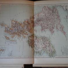 Harta color 37/46 cm - Iles Brit 20 - Atlas de Geographie Moderne, Paris, 1901