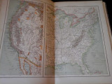 Harta color 37/46 cm - SUA 58 - Atlas de Geographie Moderne, Paris, 1901
