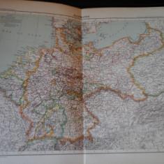 Harta color 37/46 cm - Allemagne 26 - Atlas de Geographie Moderne, Paris, 1901