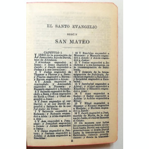 BIBLIE VECHE SPANIA - NOUL TESTAMENT -  1932