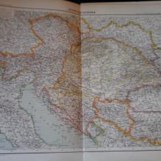 Harta color 37/46 cm -Austro-Ungaria 28 - Atlas de Geographie Moderne,Paris,1901