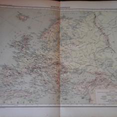 Harta color 37/46 cm - Europe 6 -Atlas de Geographie Moderne, Paris, 1901