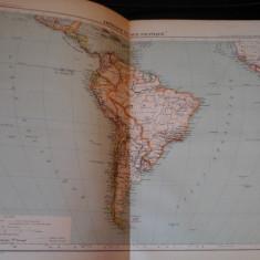 Harta color 37/46 cm - America Sud 62 - Atlas de Geographie Moderne, Paris, 1901