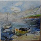 Marina 2-pictura ulei pe panza;MacedonLuiza, Marine, Altul