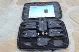 Set 5 Avertizori Senzori cu Statie Eastshark 5+1 Black Edition RF Suporta Senzor, Electronice
