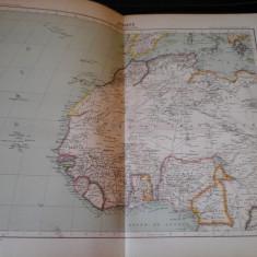 Harta color 37/46 cm - Africa (N-V) 48 - Atlas de Geographie Moderne,Paris,1901
