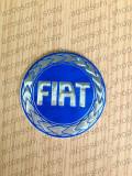 Emblema capac roata FIAT albaastru old 60 mm