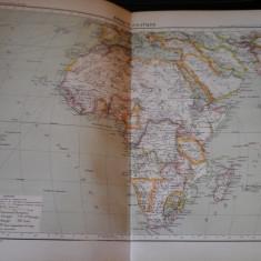 Harta color 37/46 cm - Africa polit 47 - Atlas de Geographie Moderne,Paris,1901