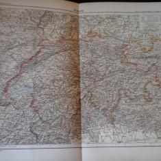 Harta color 37/46 cm - Suisse 22 - Atlas de Geographie Moderne, Paris, 1901