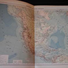 Harta color 37/46 cm - America N 54 - Atlas de Geographie Moderne, Paris, 1901
