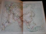 Harta color 37/46 cm - Asia 36 - Atlas de Geographie Moderne, Paris, 1901
