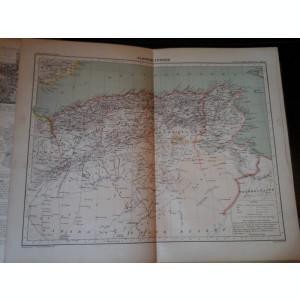 Harta color 37/46 cm -Algeria, Tun 17 -Atlas de Geographie Moderne, Paris, 1901