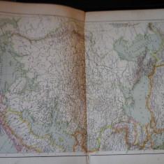 Harta color 37/46 cm -Rusia Europa 33 - Atlas de Geographie Moderne, Paris, 1901