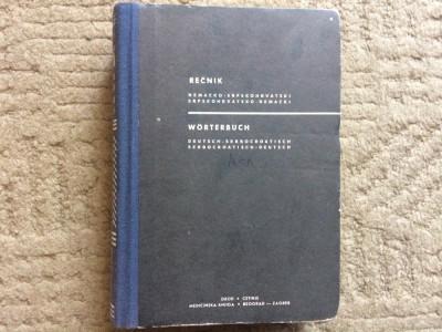 worterbuch deutsch serbocroatisch recnik dictionar german sarbocroat bilingv foto