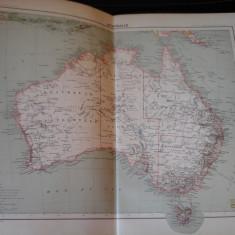 Harta color 37/46 cm - Australia 52 - Atlas de Geographie Moderne, Paris, 1901