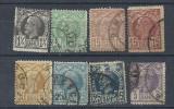 ROMANIA 1885/89 – VULTURI, serie stampilata deparaiata, L136, Stampilat