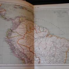 Harta color 37/46 cm - America Sud 63 - Atlas de Geographie Moderne, Paris, 1901