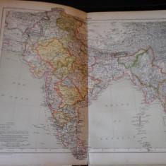 Harta color 37/46 cm - India 41 - Atlas de Geographie Moderne, Paris, 1901