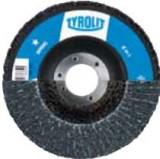 Disc lamelar frontal 125 mm Tyrolit BASIC pentru Metal si Inox Gr. 80