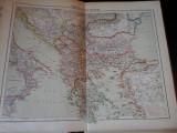 Harta color 37/46 cm - Balkans 29 - Atlas de Geographie Moderne, Paris, 1901