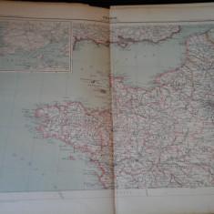 Harta color 37/46 cm - France 13 - Atlas de Geographie Moderne, Paris, 1901