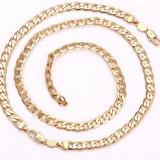 Set Barbati/unisex Lant+Bratara dublu placat aur 18K Cod produs: STB 7