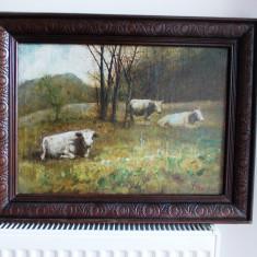 "Ion Marinescu Valsan-(1866-1935), ""Peisaj""- ulei/ panza, Peisaje, Impresionism"