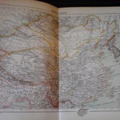 Harta color 37/46 cm - Imp. Chinez 44 - Atlas de Geographie Moderne, Paris,1901