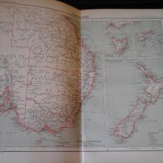 Harta color 37/46 cm - Australasia 53 - Atlas de Geographie Moderne, Paris, 1901