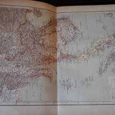 Harta color 37/46 cm - Indochina 42 - Atlas de Geographie Moderne, Paris, 1901