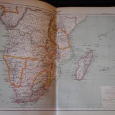 Harta color 37/46 cm - Africa (Sud) 50 - Atlas de Geographie Moderne, Paris,1901