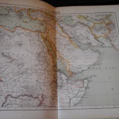 Harta color 37/46 cm - Africa (N-E) 49 - Atlas de Geographie Moderne, Paris,1901
