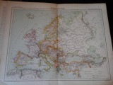 Harta color 37/46 cm - Europe 8 -Atlas de Geographie Moderne, Paris, 1901