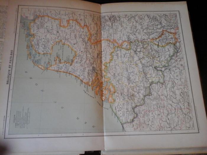Harta color 37/46 cm - Belg et Pays-Bas 21 - Atlas de Geogr. Moderne,Paris,1901