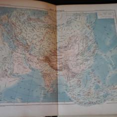 Harta color 37/46 cm - Asia 35 - Atlas de Geographie Moderne, Paris, 1901
