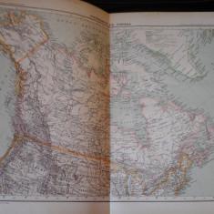 Harta color 37/46 cm - Canada 56 - Atlas de Geographie Moderne, Paris, 1901