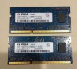 Memorii RAM DDR3 kit 4GB 2 x 2GB ELPIDA 1RX8 PC3 12800 la 1600Mhz laptop