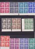 ROMANIA 1939  LP 131 STRAJA  TARII  SFANTUL GHEORGHE BLOCURI DE 4 TIMBRE  MNH, Nestampilat