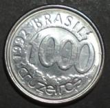 Brazilia 1000 cruzeiros 1992 UNC, America Centrala si de Sud