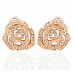 Cercei Rose Borealy Yellow Gold CLIPS