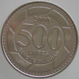 LIBAN KM#39 -500 Livres 2000, Asia