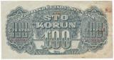CEHOSLOVACIA 100 coroane ND 1944 VF P-48