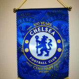 Fanion Chelsea.100 years. Dimensiune mare: 40cm