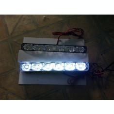Lumini de zi DRL 6 led si lupa 6000k